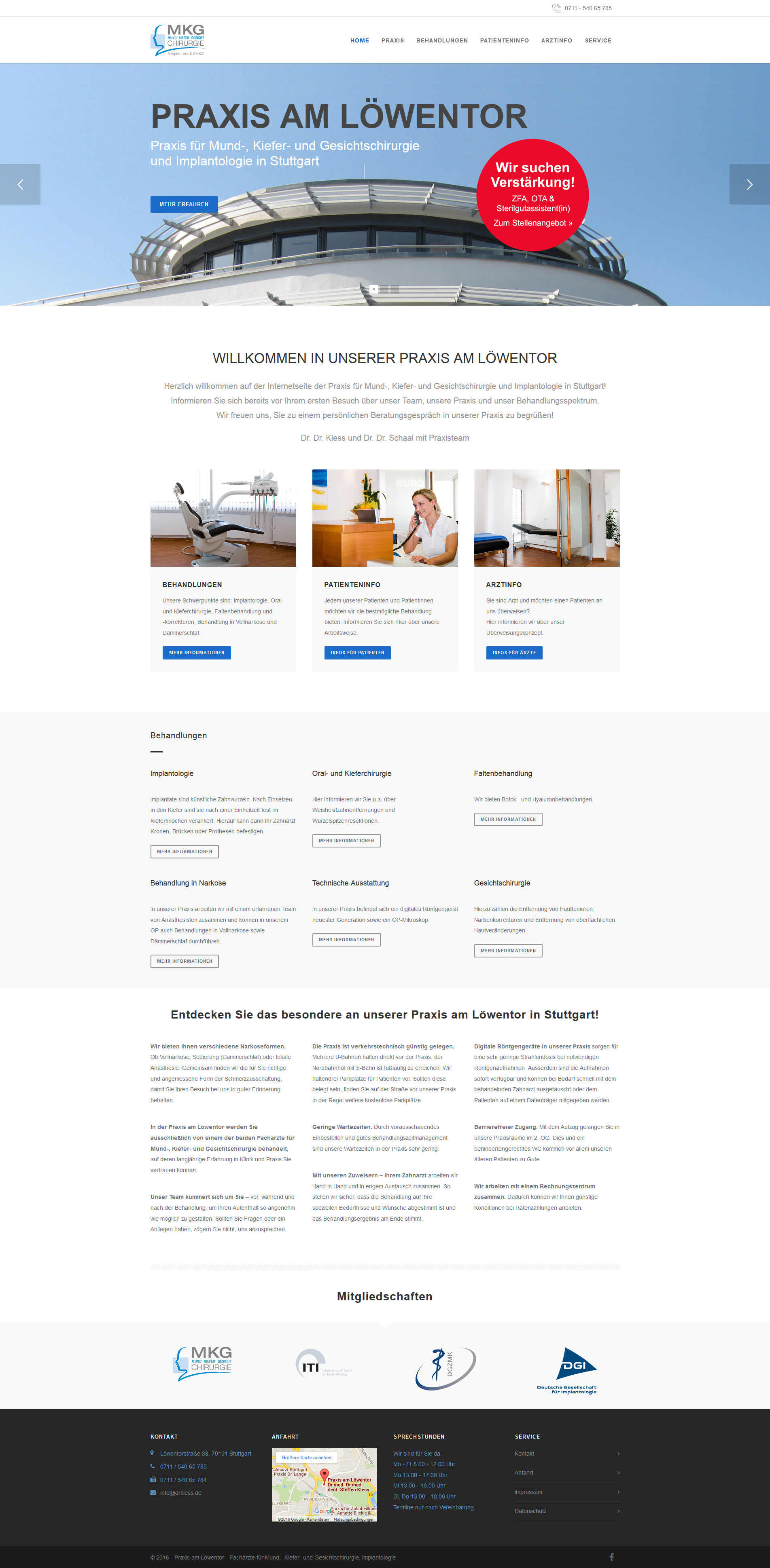 Praxiswebsite mobile Homepage Arztpraxis Website erstellen lassen