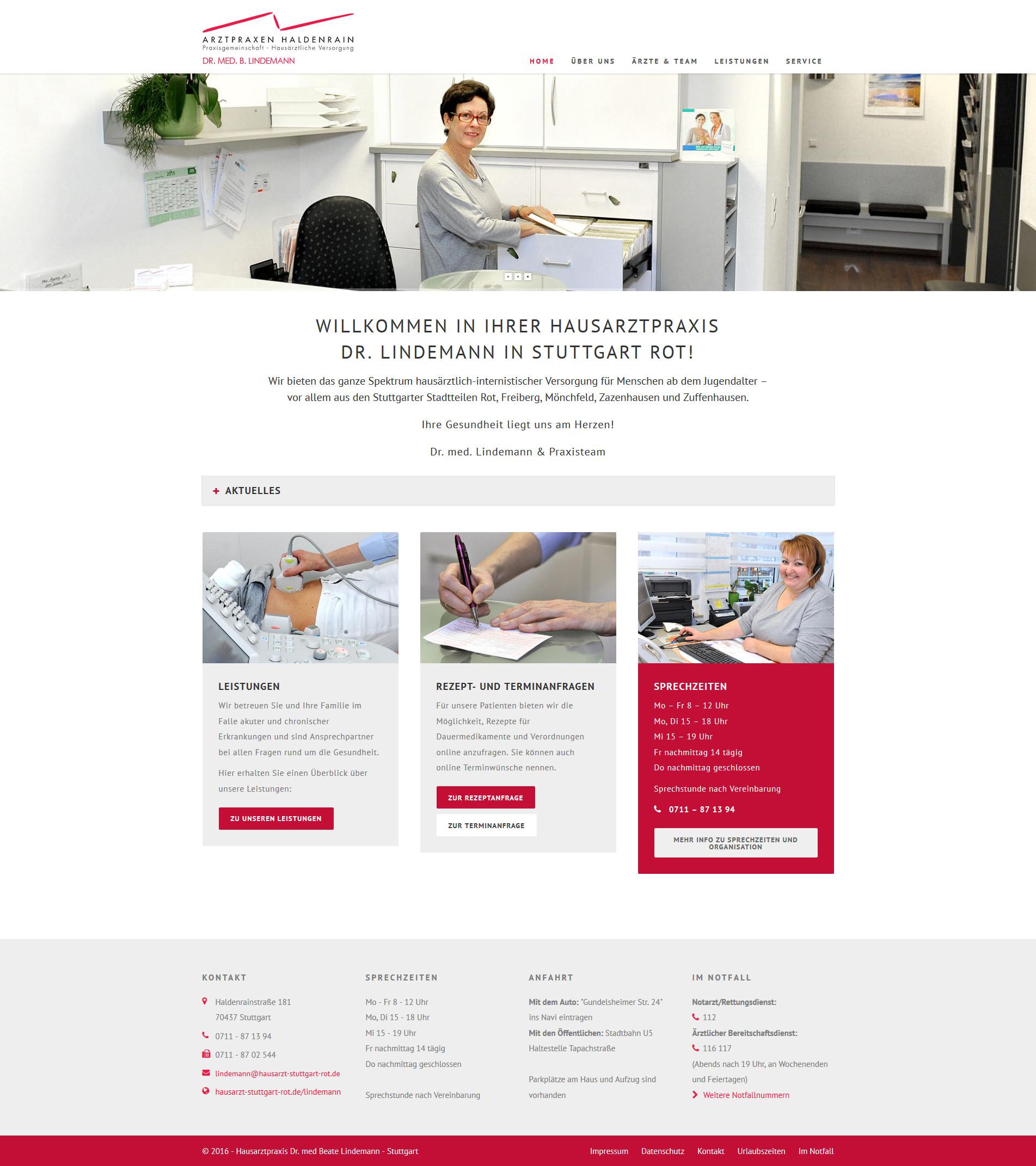 Responsiver Webauftritt :: Responsive Webdesign :: Arztpraxis