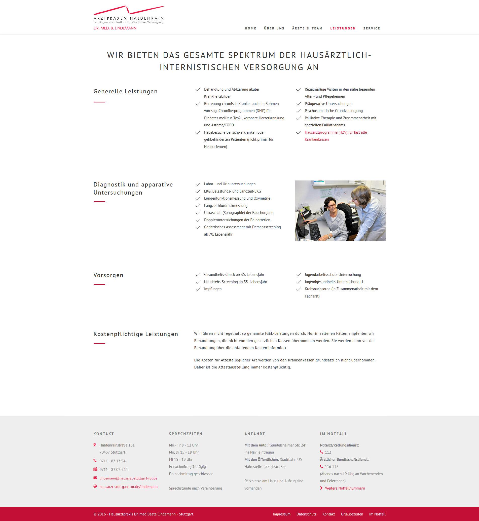 Responsiver Webauftritt :: Responsive Webdesign :: Arztpraxis :: Hausarzt in Stuttgart