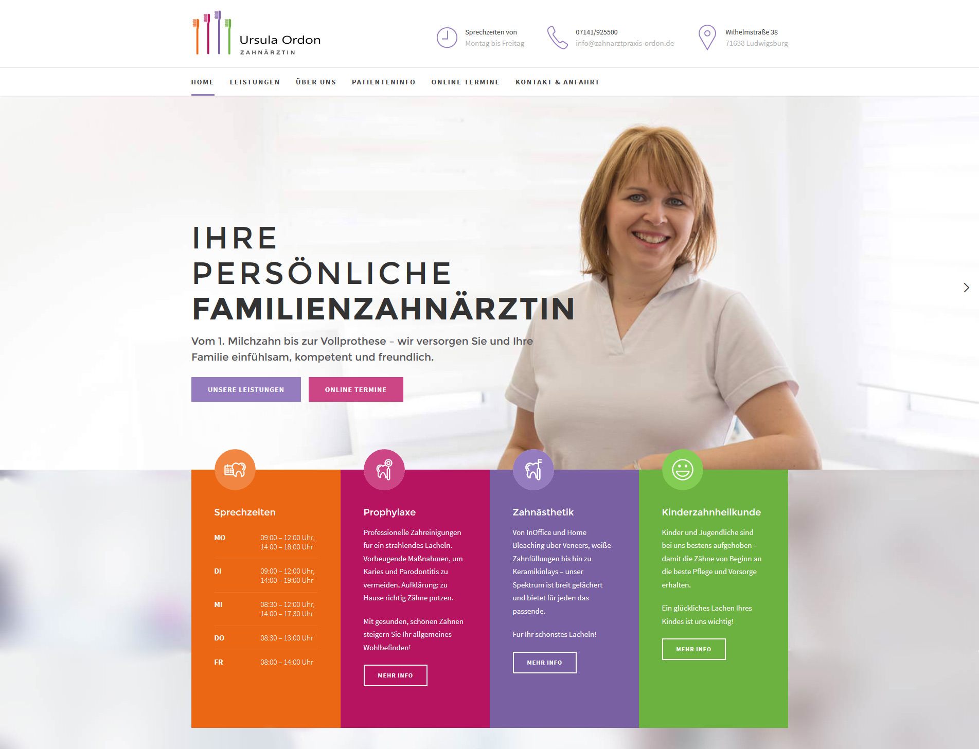 Webdesign Stuttgart Arztwebsite