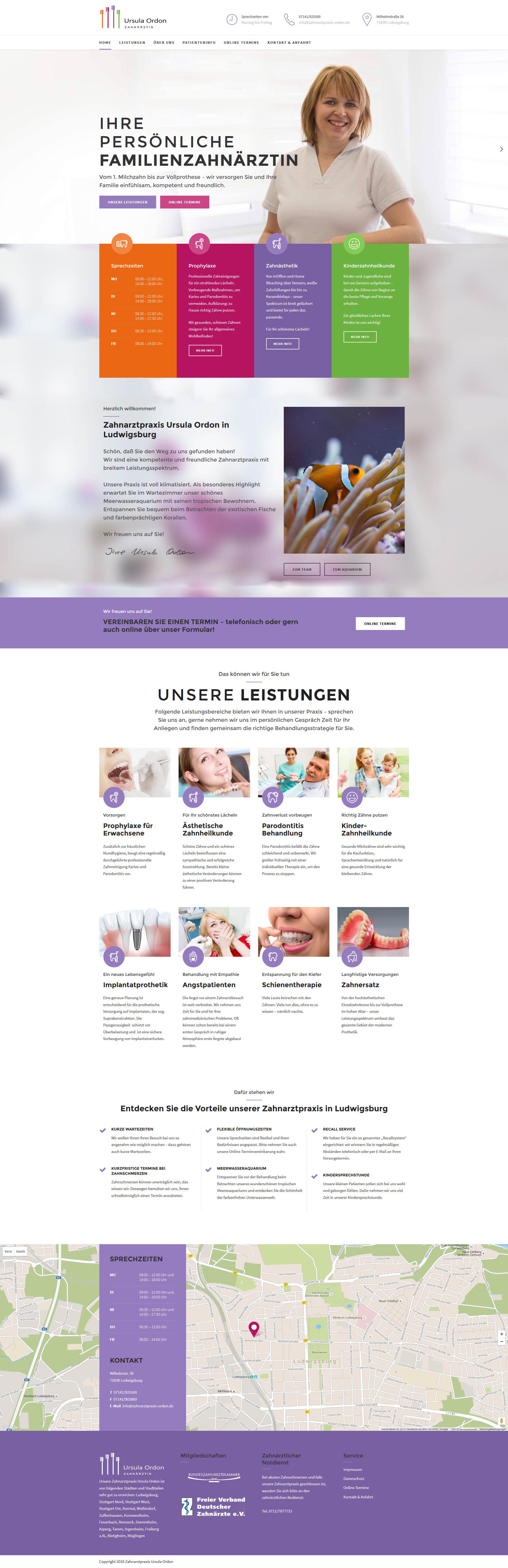 Zahnarzt-Website Ludwigsburg