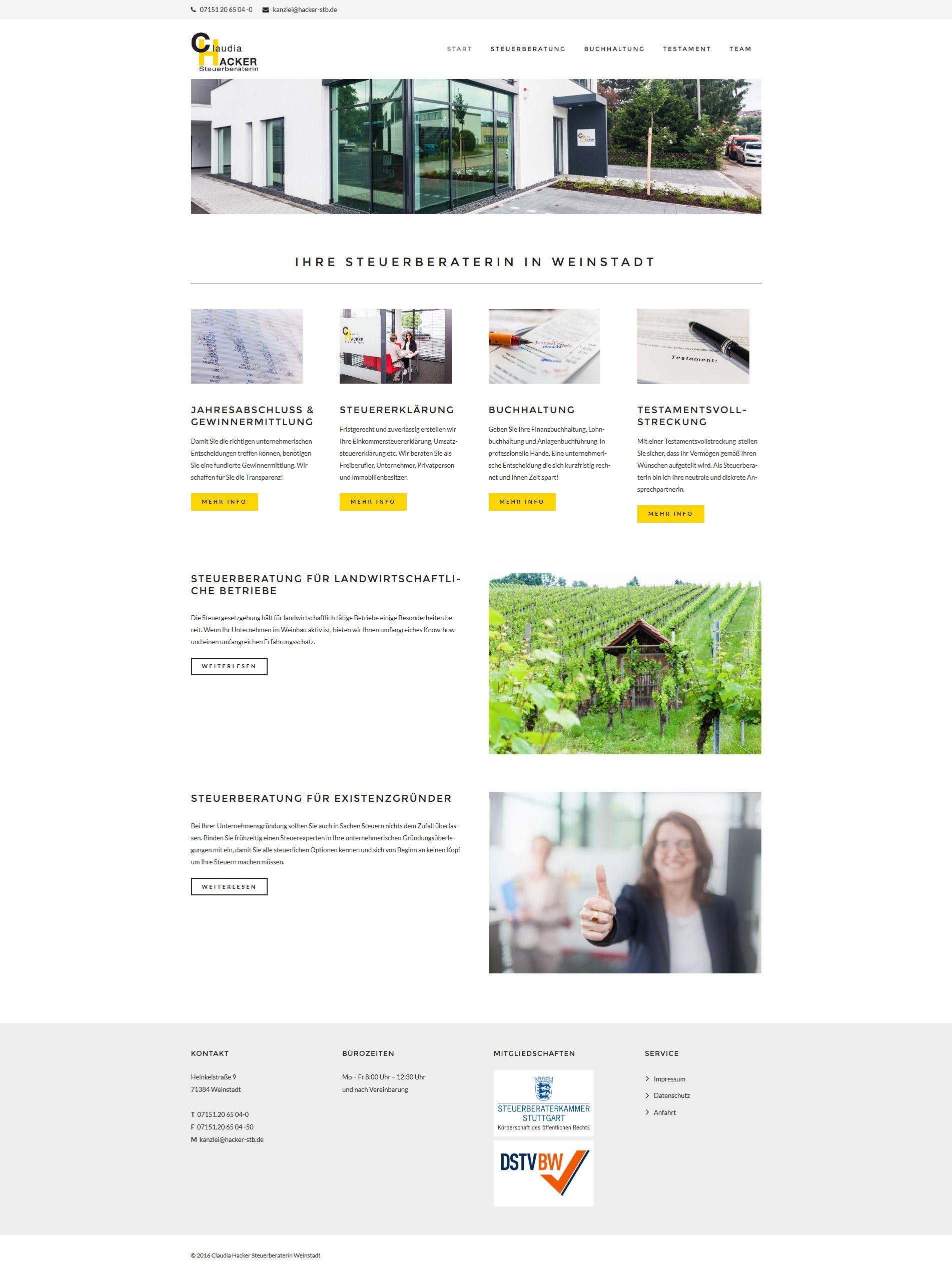 Webdesign Stuttgart Steuerberatung
