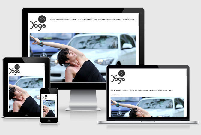 Responsive Webdesign Stuttgart Yoga Studio