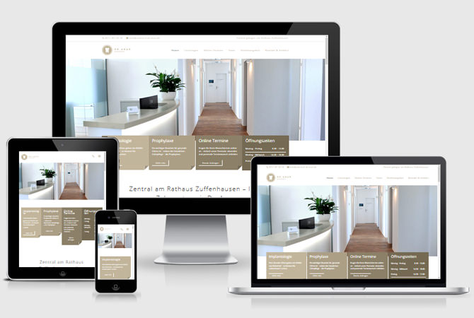 Webdesign ZAhnarztpraxis Homepage erstellen lassen